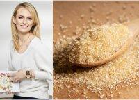 Mitybos specialistė išaiškino, ar rudasis cukrus tikrai vertingesnis už baltąjį