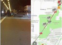 Masinės avarijos kelyje Vilnius-Kaunas: susidūrė apie 10 automobilių, yra sužeistų žmonių