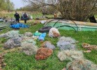 Niekaip nepasimoko: ne kartą už žvejybą tinklais baustą vyrą ir vėl pričiupo aplinkosaugininkai