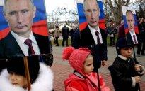 Putin and children in Russia