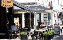 Outdoor cafee in Kaunas