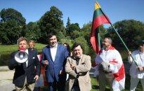 Mantas Adomėnas, Mikheil Saakashvili, Emanuelis Zingeris