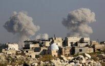 JAV, Britanija ir Prancūzija ragina nutraukti ugnį Alepe