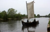 Regatta of historic boats along Lithuanian coast