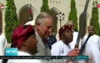 Princas Charlesas Omane dalyvavo šokio su kardais ceremonijoje