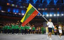 Team Lithuania at the opening ceremony of Rio Olympics
