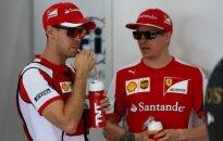 Sebastianas Vettelis ir Kimi Raikkonenas