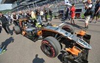 Sergio Perezas prie Force India automobilio  vairo