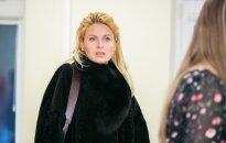 G. Kildišienė gina diplominį darbą: pristatė moterišką paltą