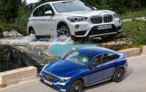 BMW X1 ir Mercedes-Benz GLC Coupe