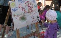 Mažieji šiauliečiai dalyvavo piešimo akcijoje