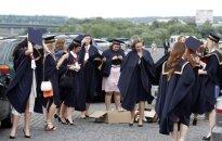 Students at the graduation