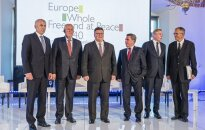 Foreign Ministers, Ušackas, Saudargas, Linkevicius, Valionis, Ažubalis and Vaitiekūnas after a panel discussion