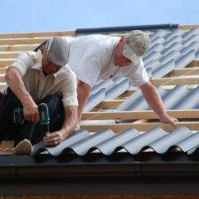 Kaip sumontuoti cementinių banguotų lakštų stogą