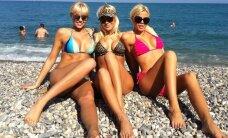 O.Pikul su bičiulėmis pasinėrė į Prancūzijos rivjeros saulės vonias