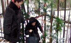 Į botanikos sodą lankytojai lindo per tvorą