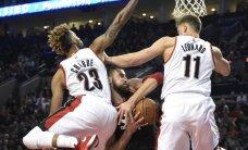 "J. Valančiūno dvigubas dublis ir ""Raptors"" klubo pergalė Portlande"