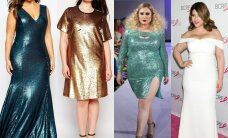 Gražiausios šventinės suknelės IŠRAIŠKINGŲ FORMŲ moterims