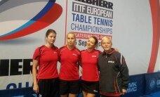 Europos stalo teniso pirmenybėse Lietuvos moterų rinktinė pralaimėjo Turkijos komandai