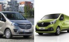 """Pristatomi naujieji """"Opel Vivaro"""" ir """"Renault Trafic"""""""