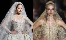 Stebinančios rankų darbo vestuvinės suknelės FOTO