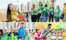 Olimpiniame Rio kaimelyje iškelta Lietuvos trispalvė (V. Dranginio nuotr.)