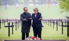 A. Merkel ir F. Hollande'as