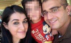 O. Mateen su žmona ir vaiku