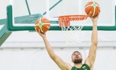 Lietuvos krepšinio rinktinės treniruotė Rio de Žaneire