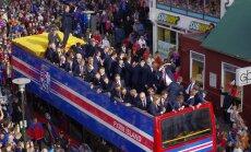 Islandijos futbolo rinktinė grįžo namo
