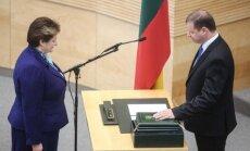Saulius Skvernelis and Seimas Speaker Loreta Graužinienė