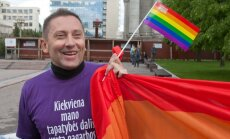 Vladimir Simonko of the Lithuanian Gay League