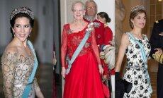 Iš kairės: Princesė Mary, karalienė Margrethe ir karalienė Letizia su vyru.