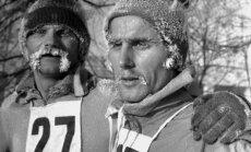 A. Maldūnas (dešinėje) 1978 metais per Kalėdinį bėgimą