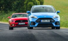 Ford Mustang GT ir Ford Focus RS