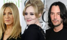 Jennifer Aniston, Adele, Keanu Reeves'as