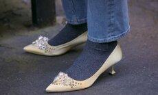 Storos kojinės ir elegantiški bateliai: derinti ar ne?