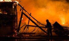 Didelis gaisras sostinėje: degė bažnyčia