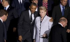 Barack Obama and Dalia Grybauskaitė