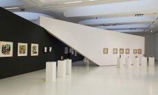 Teodoro Kazimiero Valaičio parodos ekspozicijos fragmentas. Fotografas Tomas Kapočius ©Nacionalinė dailės galerija