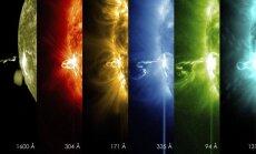 Saulės žybsnis skirtingų elektromagnetinių bangų spektruose