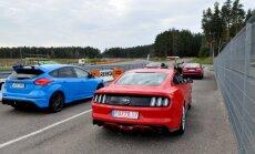 Ford Mustang ir Ford Focus RS Kačerginėje
