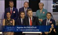 A. Butkevičius during TV debates