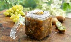 Agrastų, kivių ir vynuogių džemas
