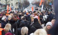 Teachers' strike protests