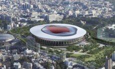 Tokijo olimpinio stadiono projekto vizualizacija
