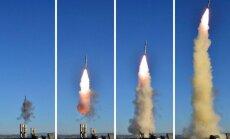 Šiaurės Korėjos lyderis stebėjo zenitinės gynybos sistemos bandymą