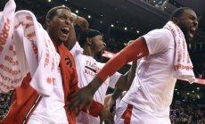 Triumfuojantys Toronto krepšininkai