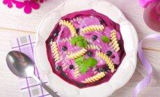 Šalta uogų sriuba su makaronais