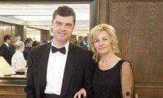 Žilvinas Šilgalis su žmona Lina